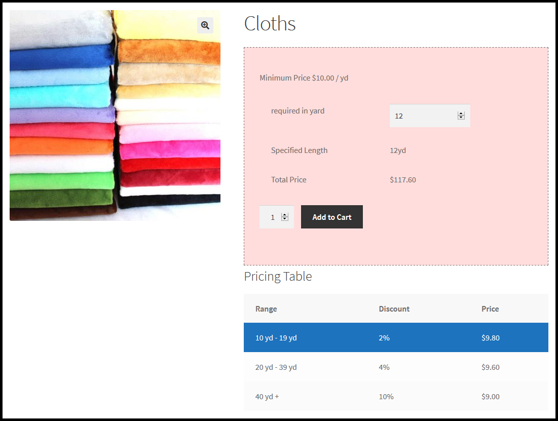 Woocommerce Measurement Price Calculator-product pricing by length