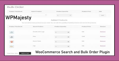 woocommerce search and bulk order plugin
