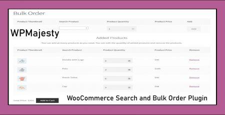 woocommerce search and bulk order plugin