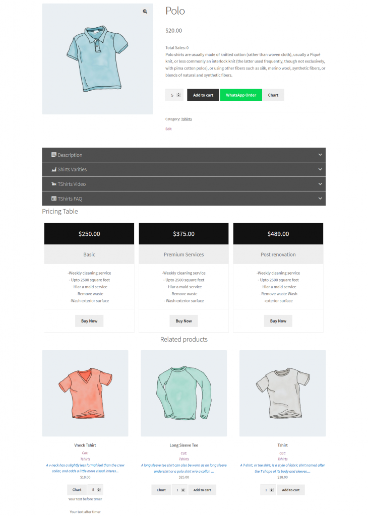 build up woocommerce front-end view